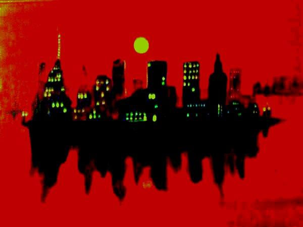 Night In The City (Acrylic Work)