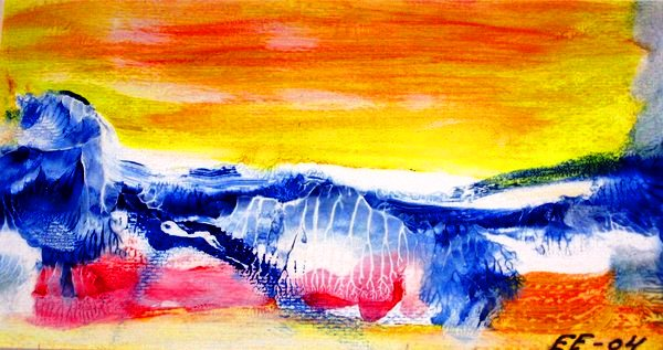 Sunny Bright Winterday (Acrylic Work)