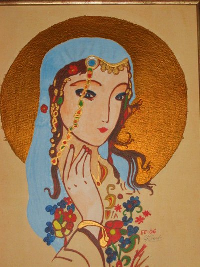 Virgin Madonna (Acrylic Work) Thanks To Susanna Newado For Good Ideas!!!