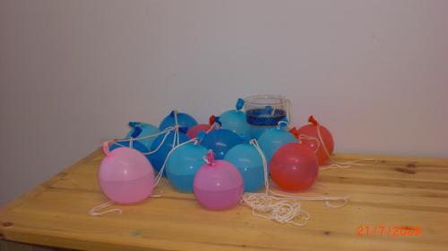 Maj-Len Helin, Vattenballonger
