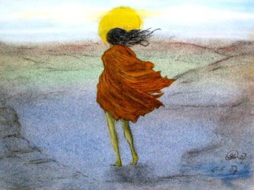 My Way (Pastel Crayon Work)