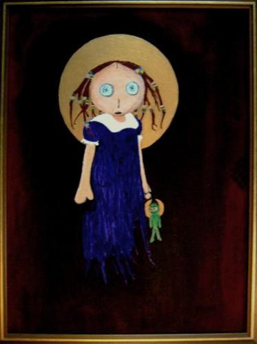 Virgin Maria With Child (Acrylic Work)