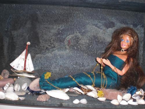 Den lilla sjöjungfrun, installation